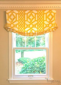 custom roman shade schumacher yellow (1 of 1)