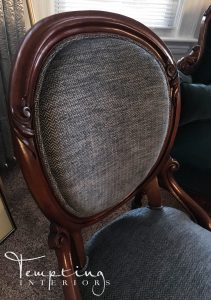 reupholstered chair blue (1 of 1)