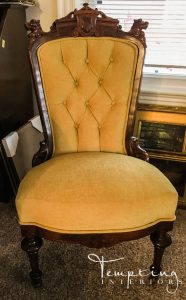 reupholstered chair gold (1 of 1)