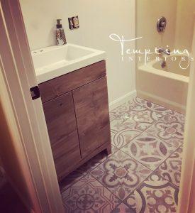 bathroom remodel rustic progress shot (1 of 1)