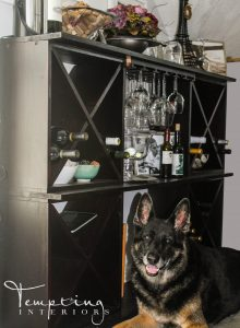 custom furniture wine rack and bella (1 of 1)