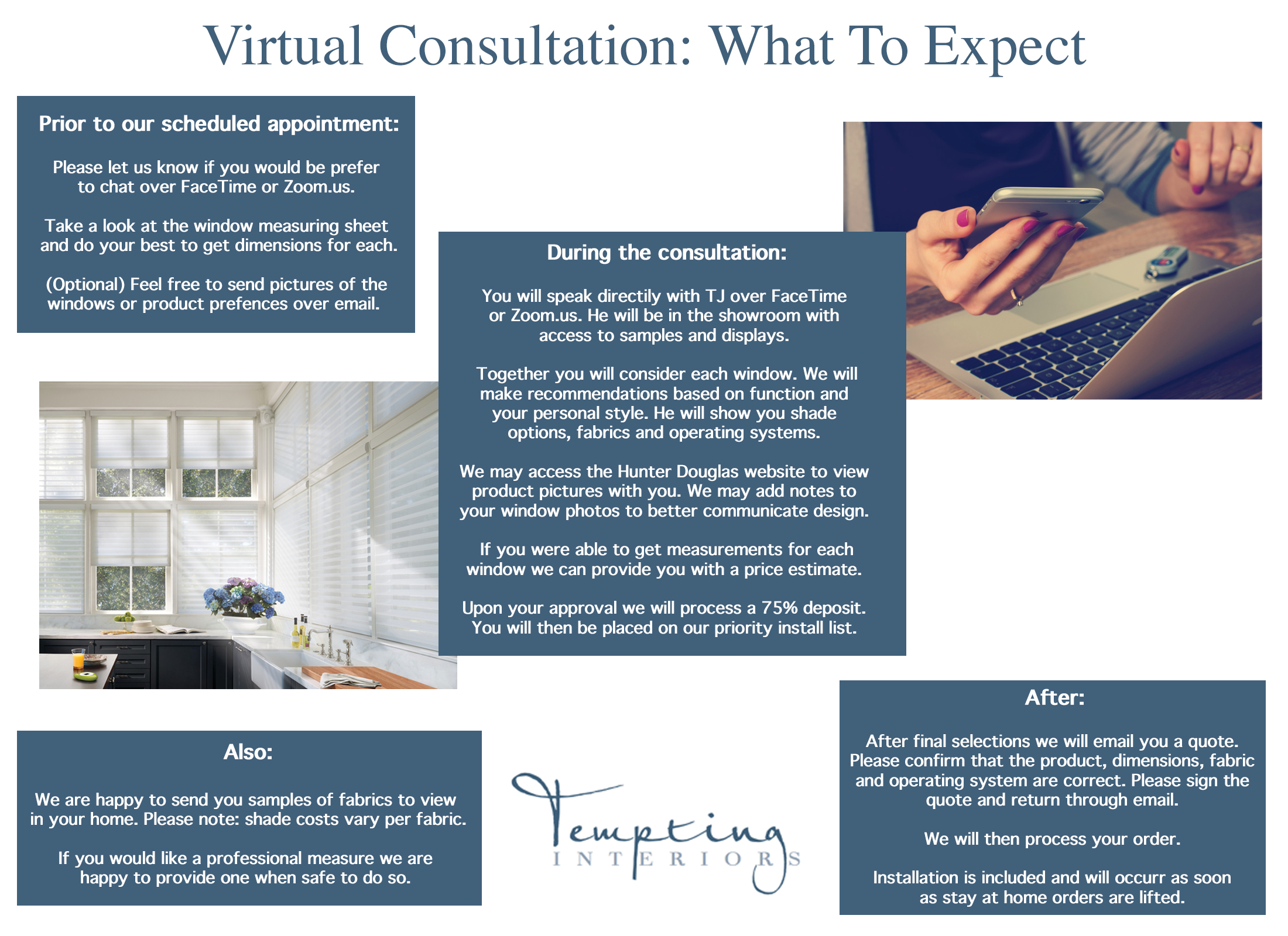 Now Offering Virtual Consultations!