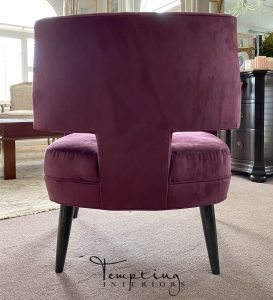 custom chair kravet purple 2 Tempting Interiors with logo
