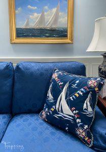 custom pillows sailboats 2 Tempting Interiors with logo
