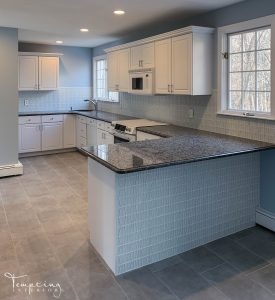 kitchen remodel white Tempting Interiors with logo