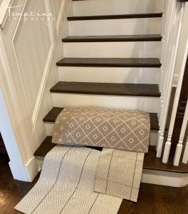 stair runner samples 2 Tempting Interiors with logo